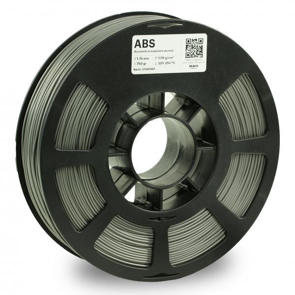 Kodak ABS Grau 3D-Filament 1,75 / 2,85mm 750g Pantone 8402 C