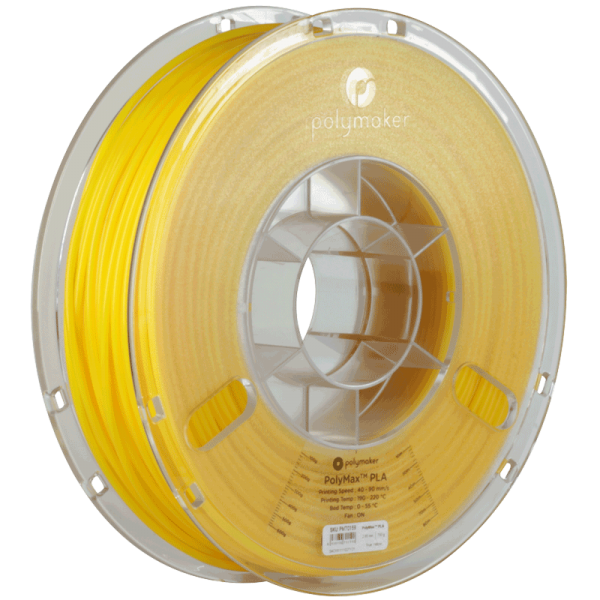 PolyMaker PolyMax PLA Yellow in 1,75mm 750g