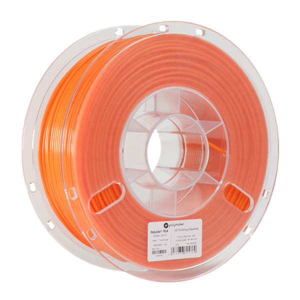 Polymaker PolyLite PLA Filament True Orange 1,75mm 1000g