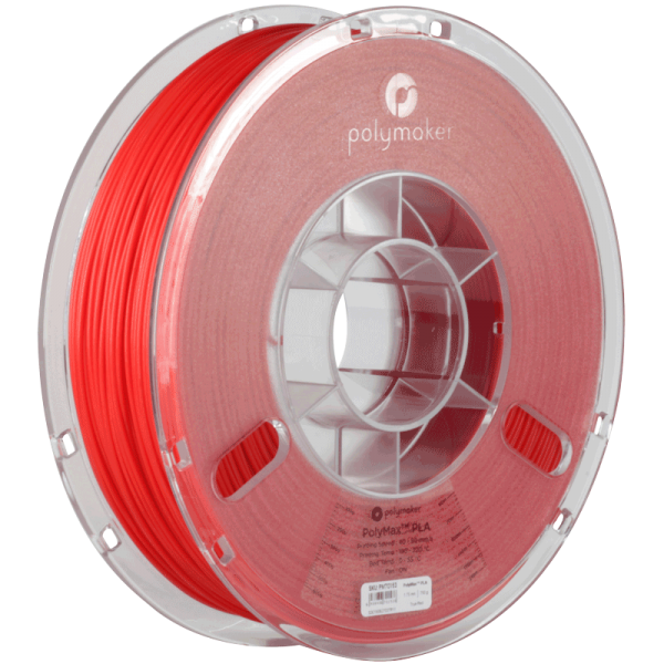 PolyMaker PolyMax PLA Red in 1,75mm 750g
