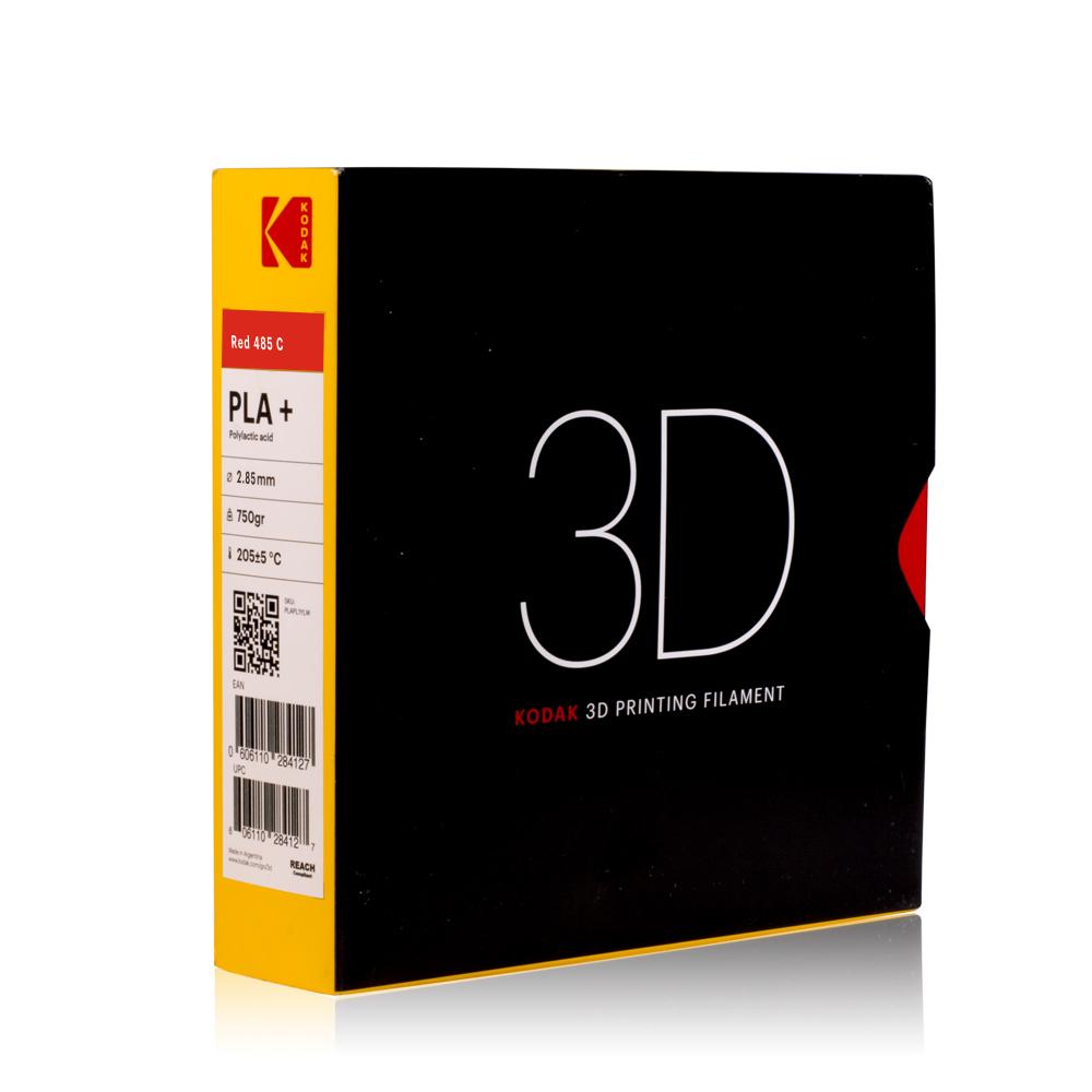 Kodak PLA + Rot 3D-Filament 1,75 / 2,85mm 750g Pantone 485 C