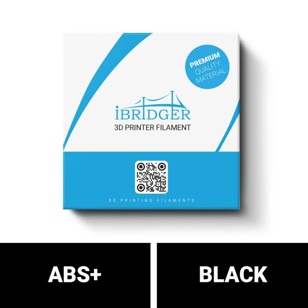 iBridger ABS+ black filament 1kg 1,75mm