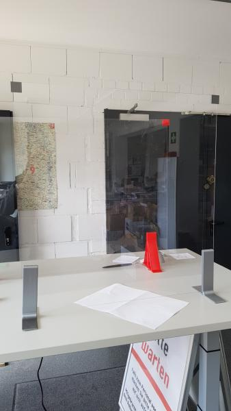 gemeinsam3D: Easy Plexi - simple spit protection 80x60cm made of plexiglass (polycarbonate) for the office