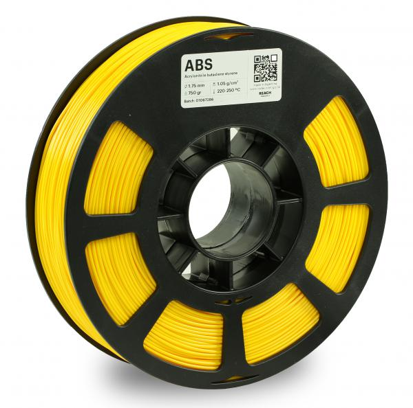 Kodak ABS Light Yellow 3D-Filament 1,75 / 2,85mm 750g Yellow U