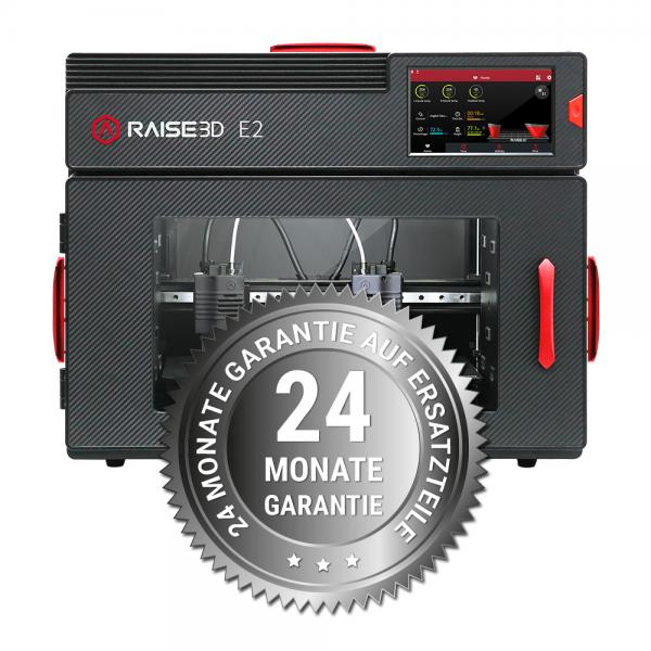 3DDistri Garantieerweiterung auf 24 Monate für Raise3D E2