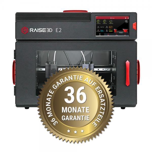 3DDistri Garantieerweiterung auf 36 Monate für Raise3D E2