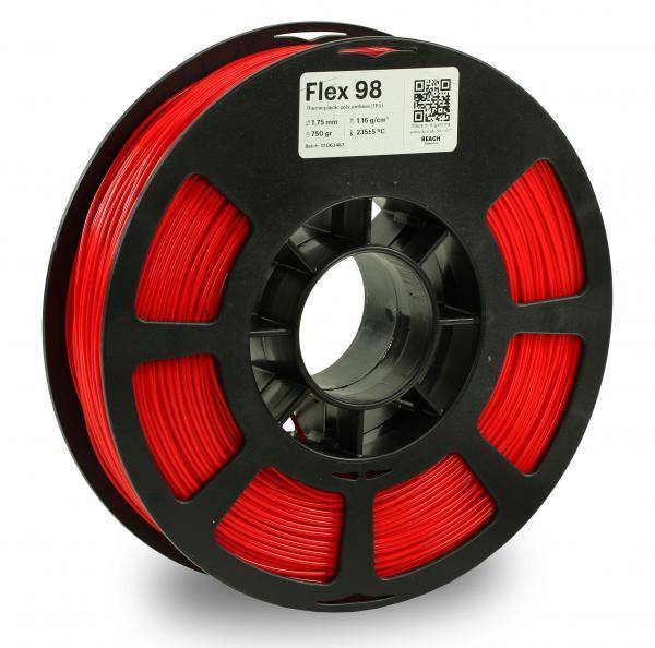 Kodak Flex 98 Rot 3D-Filament 1,75 / 2,85mm 750g Pantone 485 C