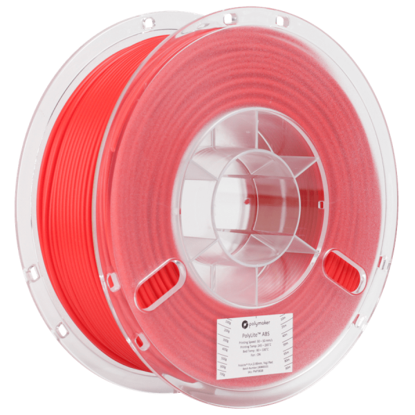 Polymaker PolyLite ABS Filament Red 1,75mm 1000g