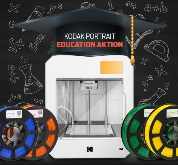 Education-Set: KODAK Portrait 3D Drucker + Filament + Tutorials