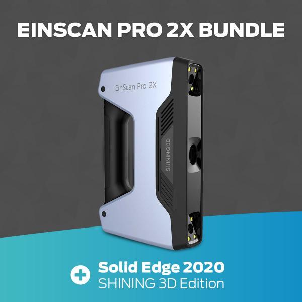 Shining3D EinScan Pro 2X 2020 & Solid Edge S3D Edit. - Handheld 3D Scanner