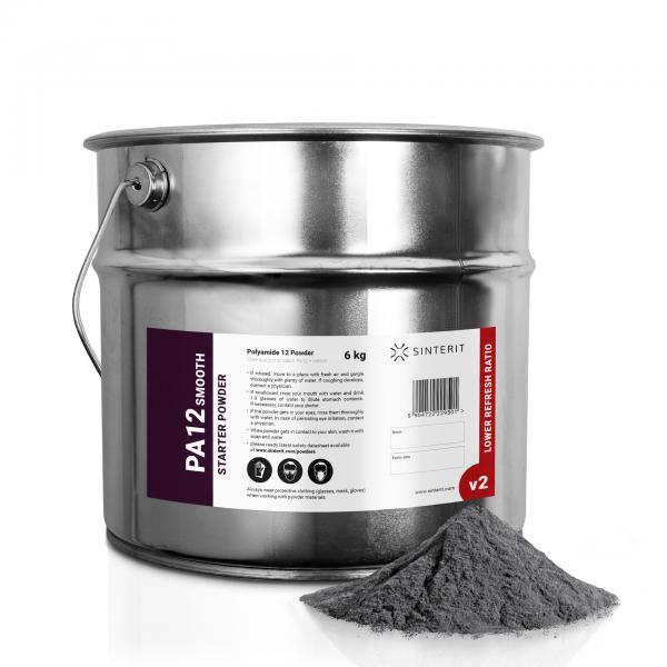 SINTERIT PA12 Smooth V2 Starter Powder 6 kg / 12 L