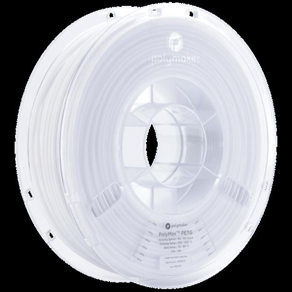 PolyMaker PolyMax PETG True White in 1,75mm und 750g