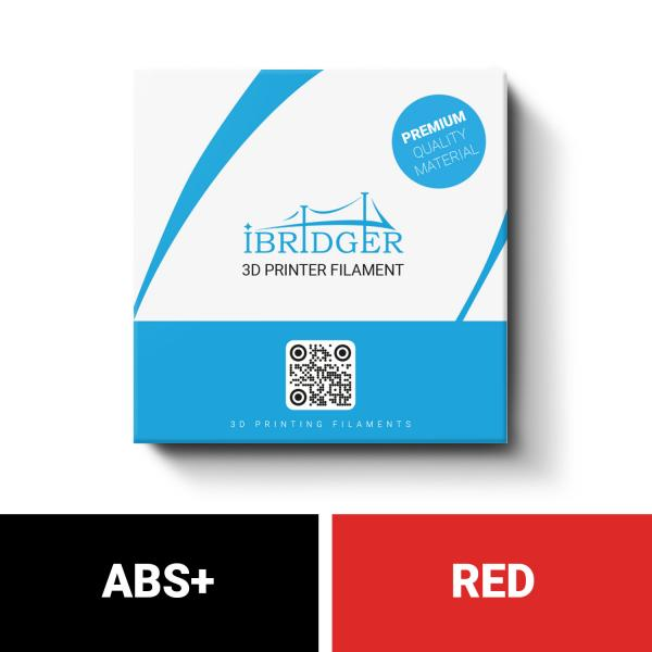 iBridger ABS+ red filament 1kg 1,75mm