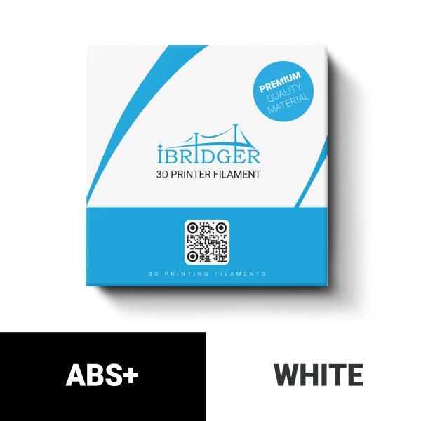 iBridger ABS+ white filament 1kg 1,75mm