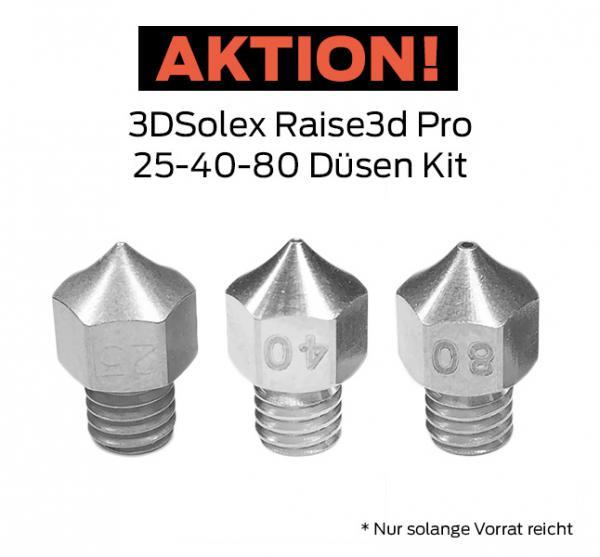 3DSolex Raise3d Pro 25-40-80 Düsen Kit