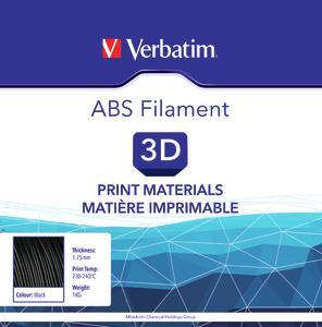 VERBATIM Filament ABS 1,75mm schwarz 1kg