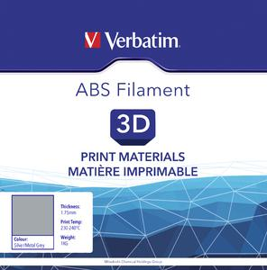 VERBATIM Filament ABS 1,75mm silber 1kg