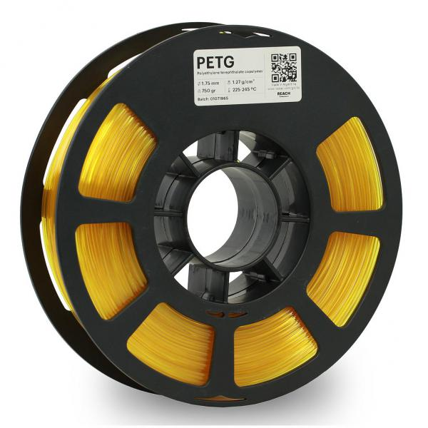 Kodak PET-G Transculent Gelb 3D-Filament 1,75 / 2,85mm 750g