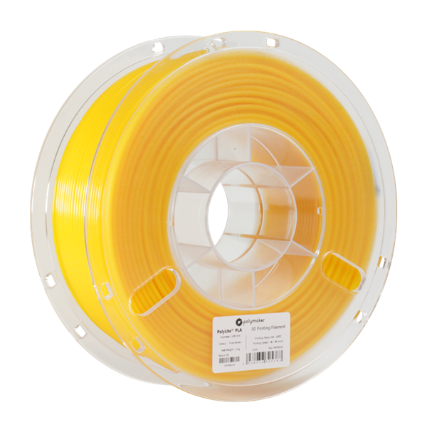 Polymaker PolyLite PLA Filament True Yellow 1,75mm 1000g