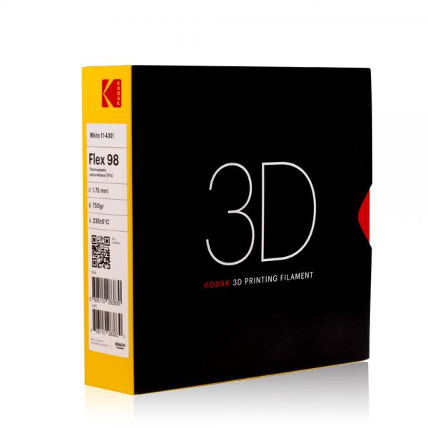 Kodak Flex 98 Weiß 3D-Filament 1,75 / 2,85mm 750g Pantone 485 11-4001