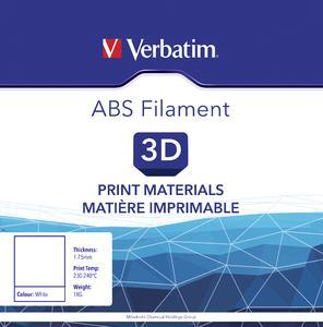 VERBATIM Filament ABS 1,75mm weiss 1kg