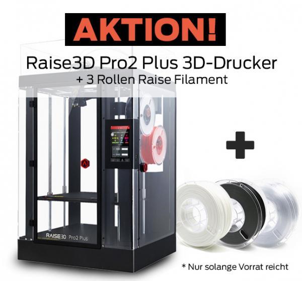 Bundle-Angebot: Raise3D Pro2 Plus 3D-Drucker mit Dual-Extruder + 3 Rollen Filament gratis