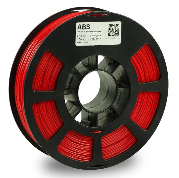 Kodak ABS Rot 3D-Filament 1,75 / 2,85mm 750g Pantone 485 C