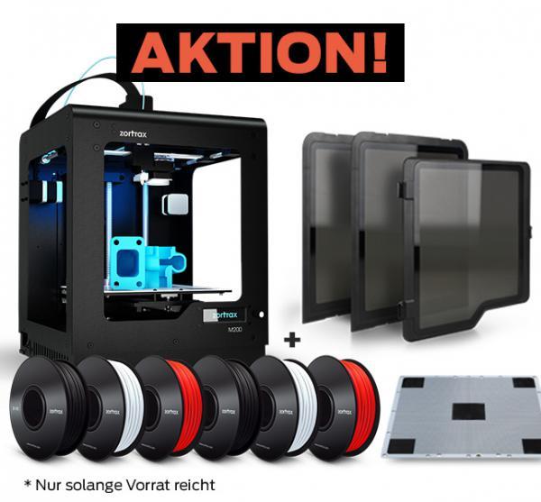 Bestseller-Bundle: Zortrax M200 3D-Drucker v04 + Seitenwände + 4,8kg Filament + Buildplate + Ersatzn