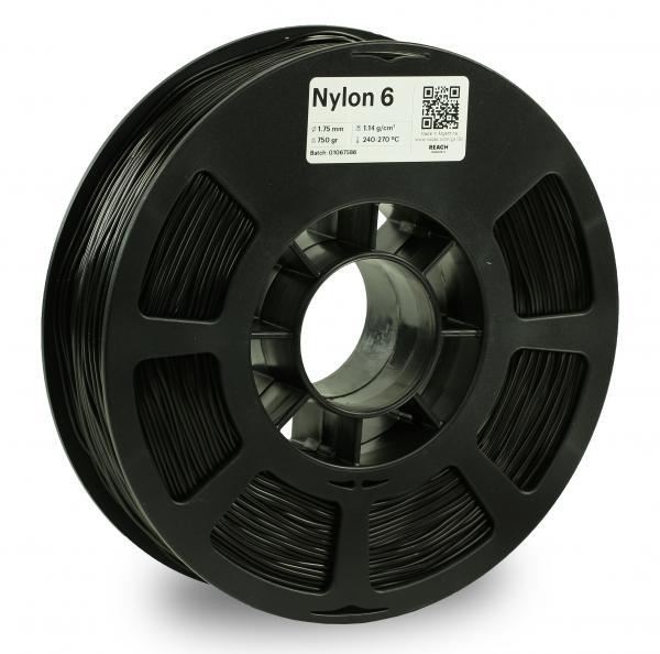 Kodak Nylon 6 Schwarz 3D-Filament 1,75 / 2,85mm 750g PA6 / PA66 Pantone 6 C
