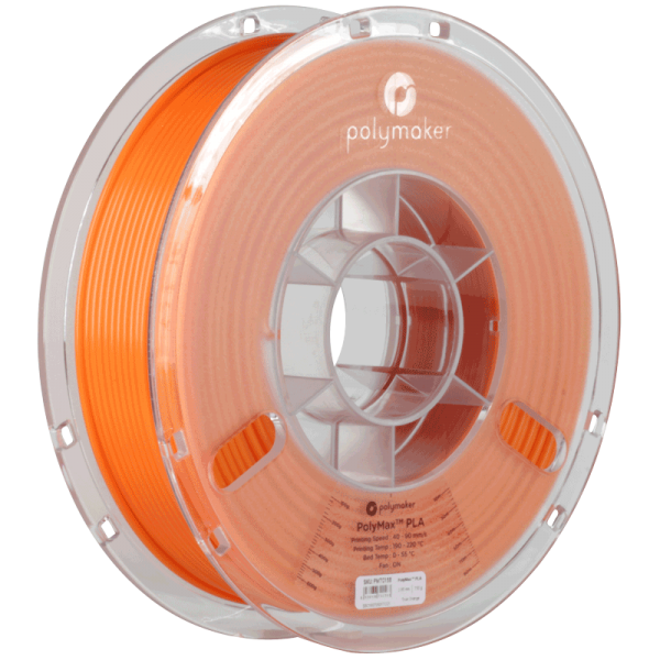 PolyMaker PolyMax PLA Orange in 1,75mm 750g