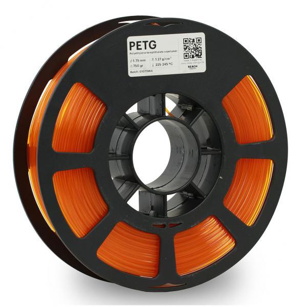 Kodak PET-G Transculent Orange 3D-Filament 1,75 / 2,85mm 750g