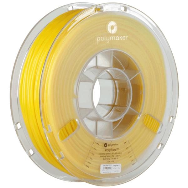 PolyMaker PolyFlex 95A Yellow in 1,75mm 750g