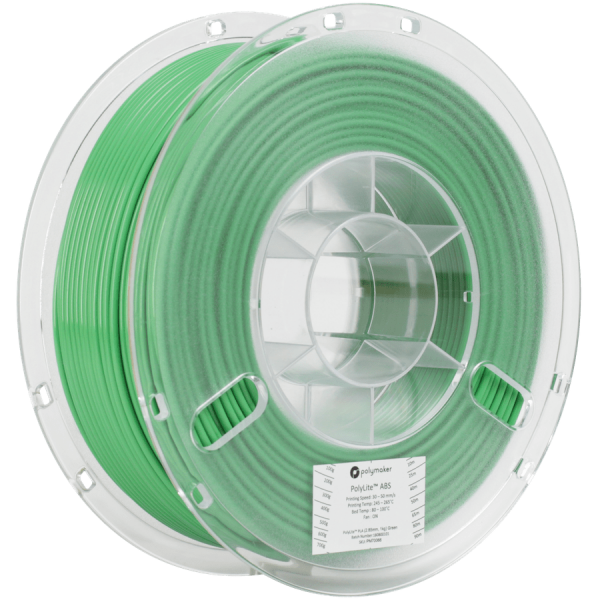 Polymaker PolyLite ABS Filament Green 1,75mm 1000g