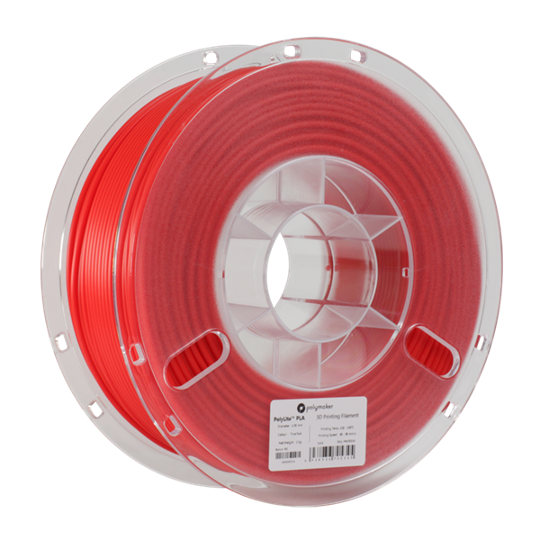 Polymaker PolyLite PLA Filament True Red 1,75mm 1000g
