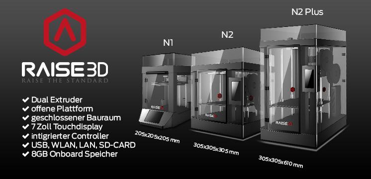 Raise 3d - 3D Drucker N1 N2 N2 Plus