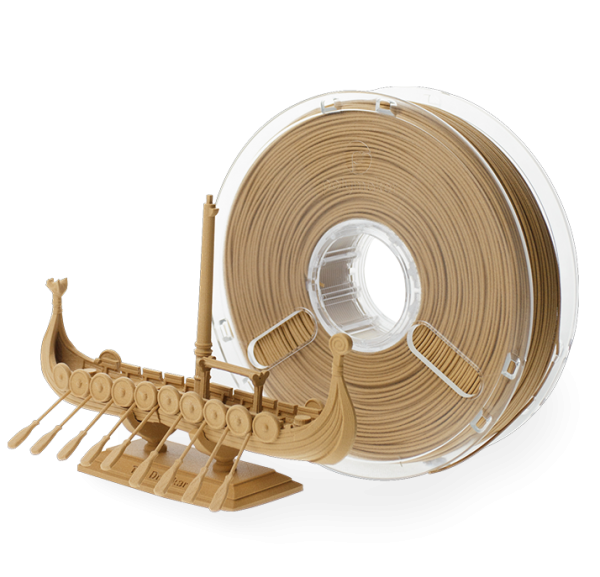 Abverkauf: PolyWood in 2,85mm und 600g Filament mit Holzoptik von PolyMaker