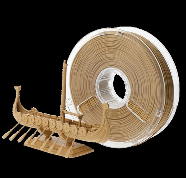 PolyMaker PolyWood in 1,75mm und 600g Filament mit Holzoptik