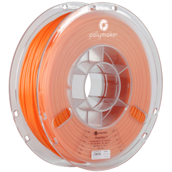 PolyMaker PolyFlex 95A Orange in 1,75mm und 750g