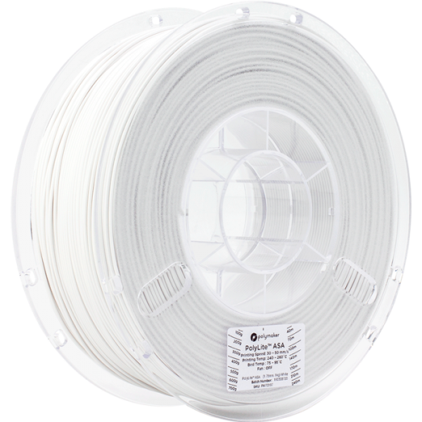 Polymaker PolyLite ASA Filament White 1,75mm 1000g