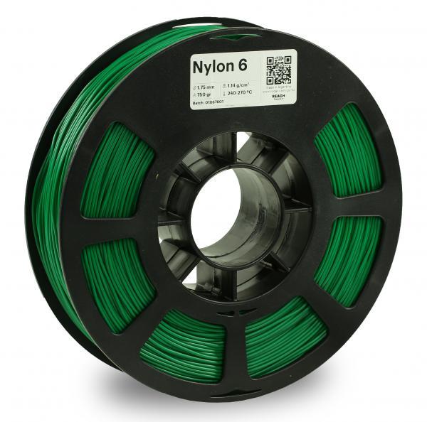Kodak Nylon 6 Grün 3D-Filament 1,75 / 2,85mm 750g PA6 / PA66