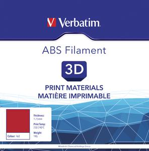 VERBATIM Filament ABS 1,75mm rot 1kg