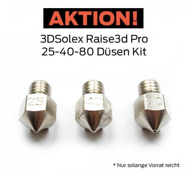 3D Solex Raise3d PRO2 25-40-80 Düsen Kit