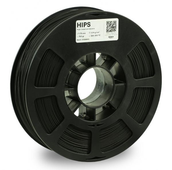 Kodak HIPS Schwarz 3D-Filament 1,75 / 2,85mm 750g Pantone 6C