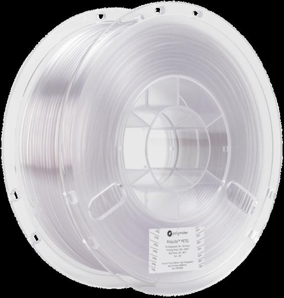 Polymaker PolyLite PETG Transparent Filament 1,75mm 1000g