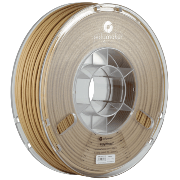 PolyMaker PolyWood in 1,75mm 600g Filament mit Holzoptik