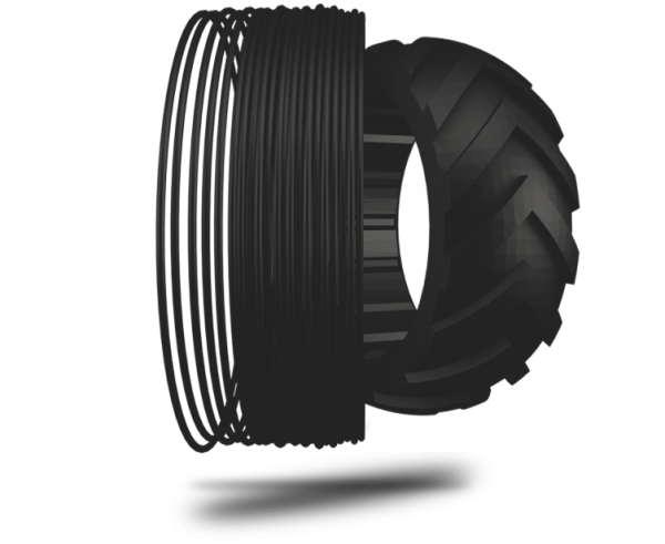 TreeD Flexmarkt 9 flexibles TPU Filament 1,75mm 500g 93A