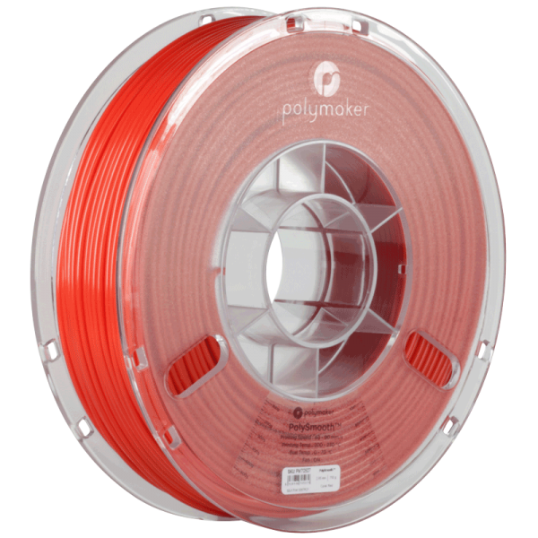 PolyMaker PolySmooth Filament Red 1,75mm 750g for Polysher