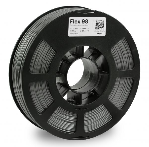 Kodak Flex 98 Grau 3D-Filament 1,75 / 2,85mm 750g Pantone 8402 C