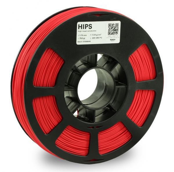 Kodak HIPS Rot 3D-Filament 1,75 / 2,85mm 750g Pantone 485 C